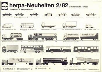 Herpa Neuheiten 1+2//82