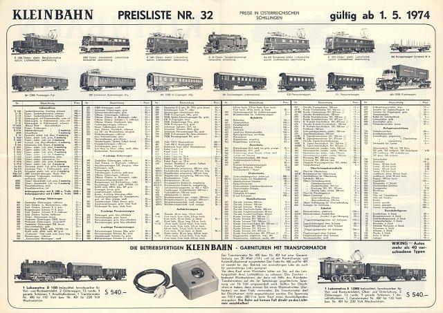 Preisliste Nr. 32 von 1974 Seite 2