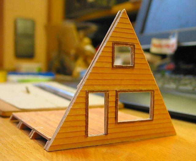 rwimmer kartonmodell a frame cabin. Black Bedroom Furniture Sets. Home Design Ideas